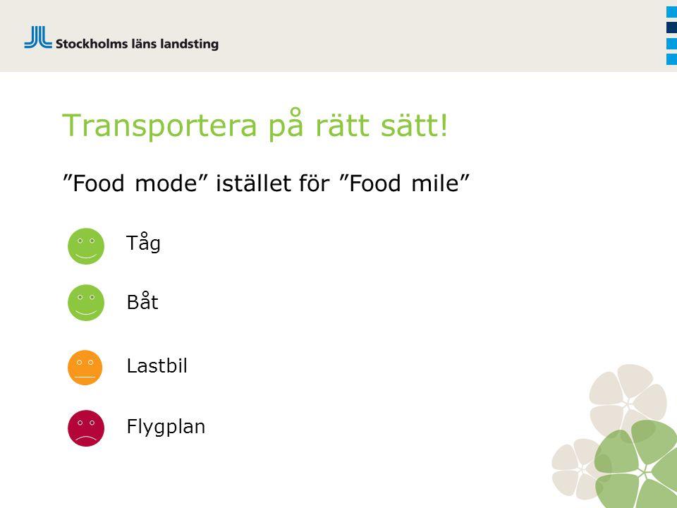 """Tåg Båt Lastbil Flygplan Transportera på rätt sätt! """"Food mode"""" istället för """"Food mile"""""""