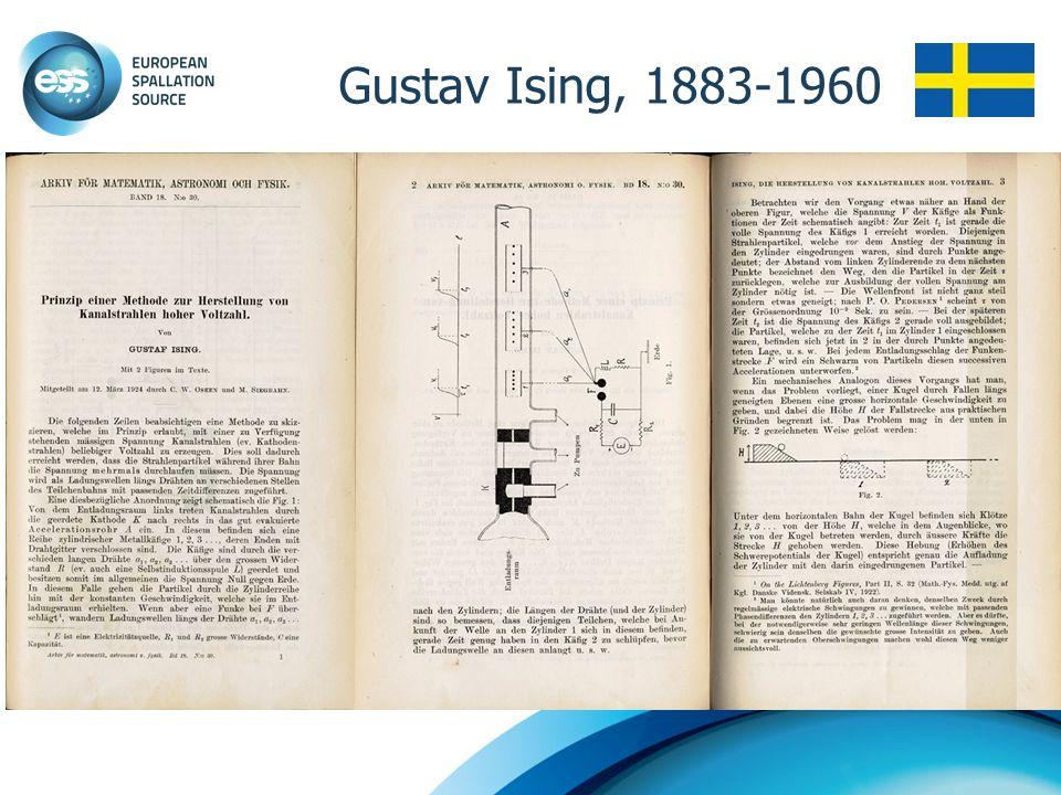 Gustav Ising, 1883-1960