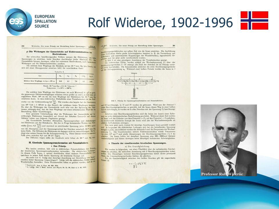 Rolf Wideroe, 1902-1996