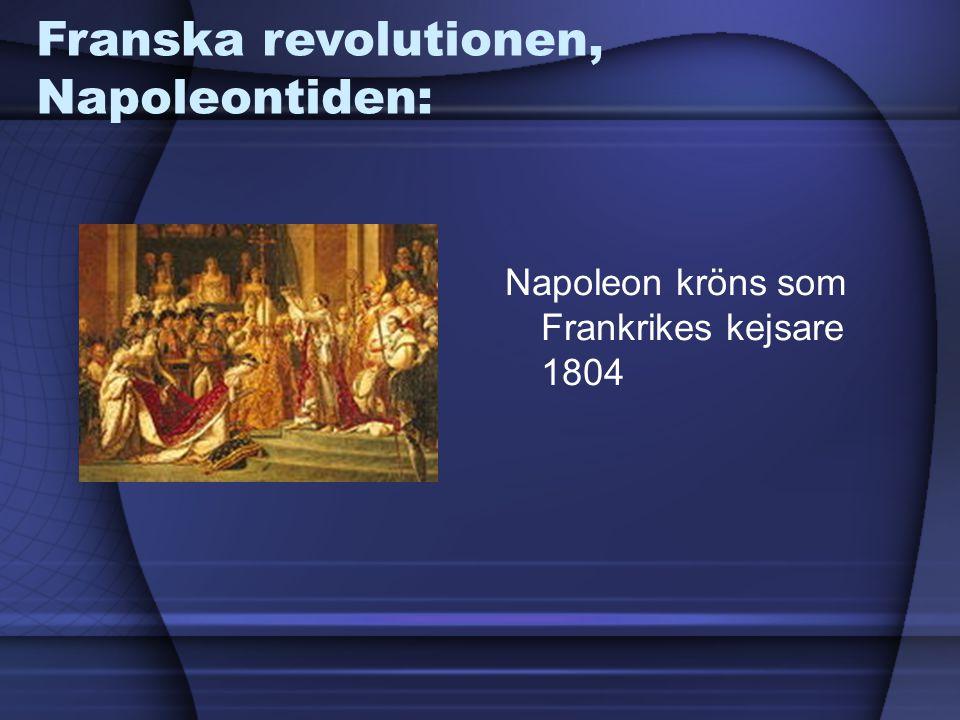 Franska revolutionen, Napoleontiden: Napoleon kröns som Frankrikes kejsare 1804