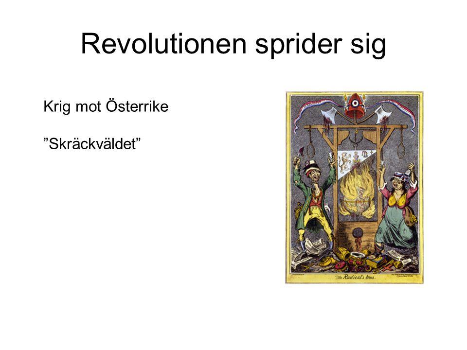 """Revolutionen sprider sig Krig mot Österrike """"Skräckväldet"""""""