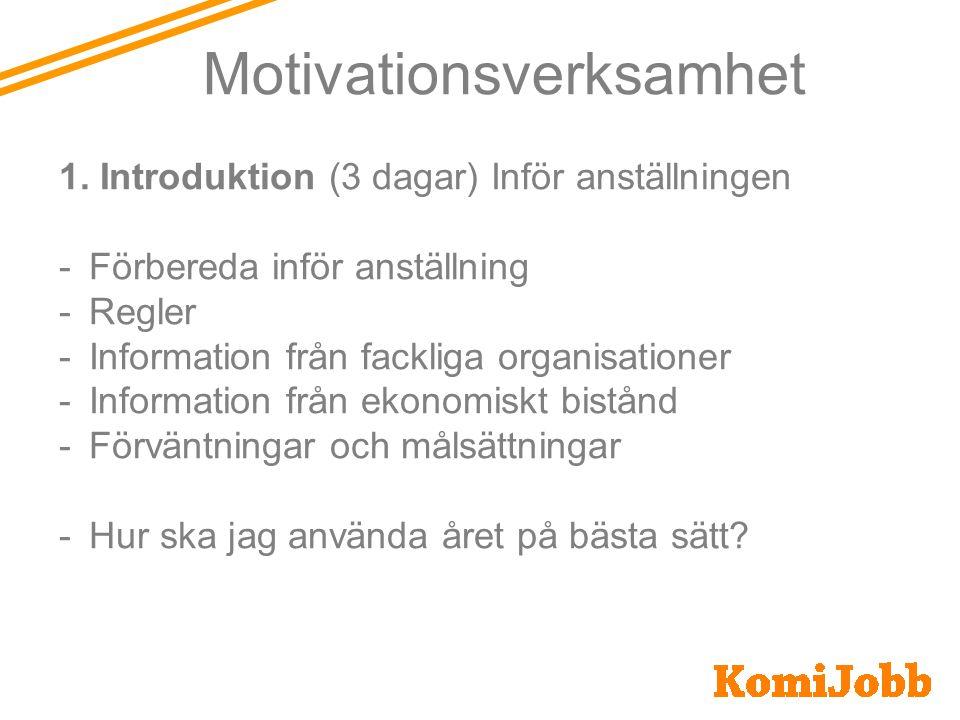 Mer än en anställning Arbetskonsulent Handledarutbildningar Studier Motivationsverksamhet