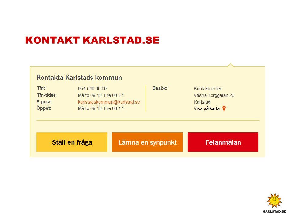 KONTAKT KARLSTAD.SE