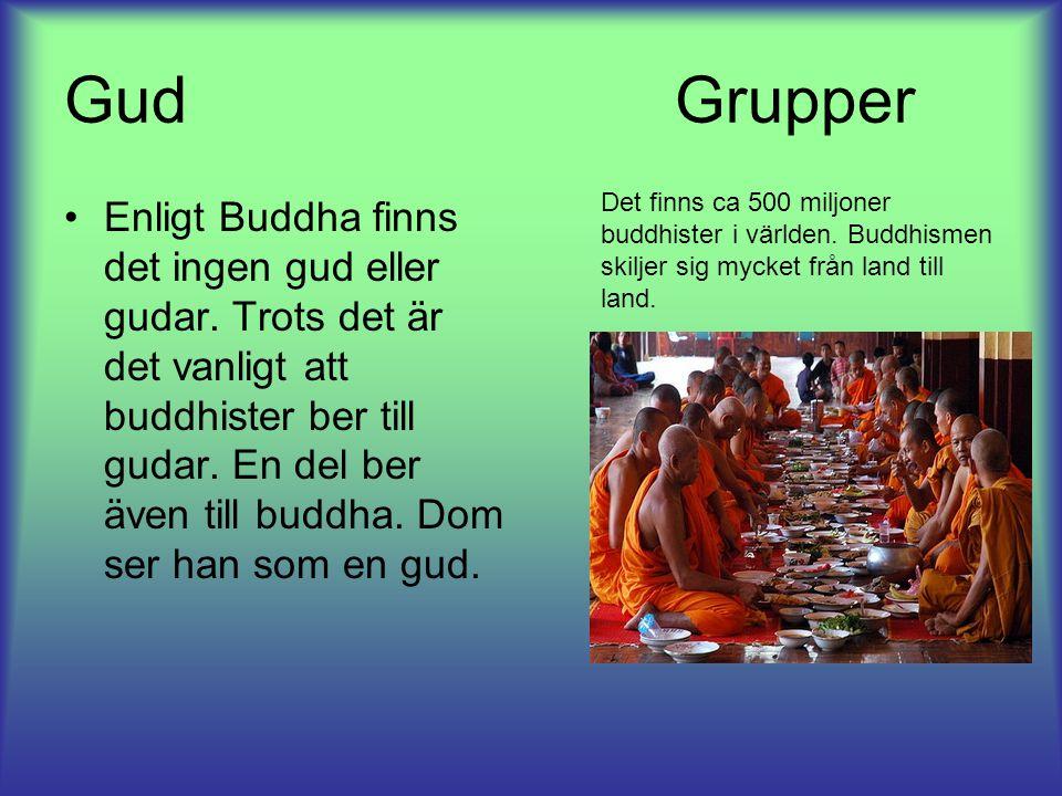 Gud Grupper Enligt Buddha finns det ingen gud eller gudar.