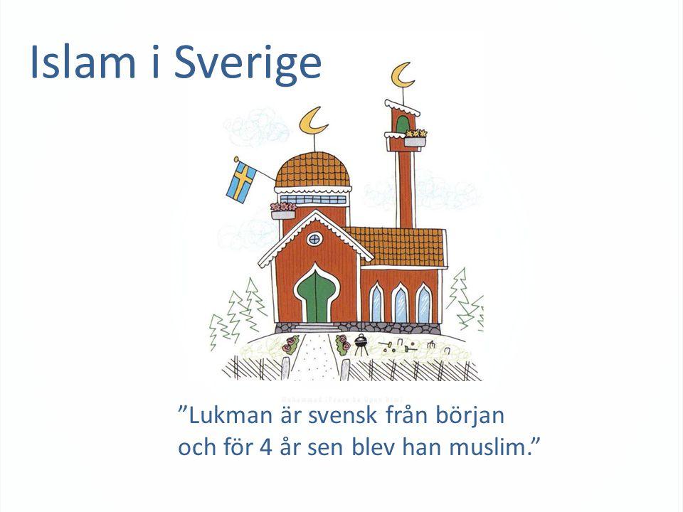 Islam i Sverige Lukman är svensk från början och för 4 år sen blev han muslim.