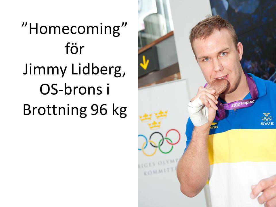 """""""Homecoming"""" för Jimmy Lidberg, OS-brons i Brottning 96 kg"""