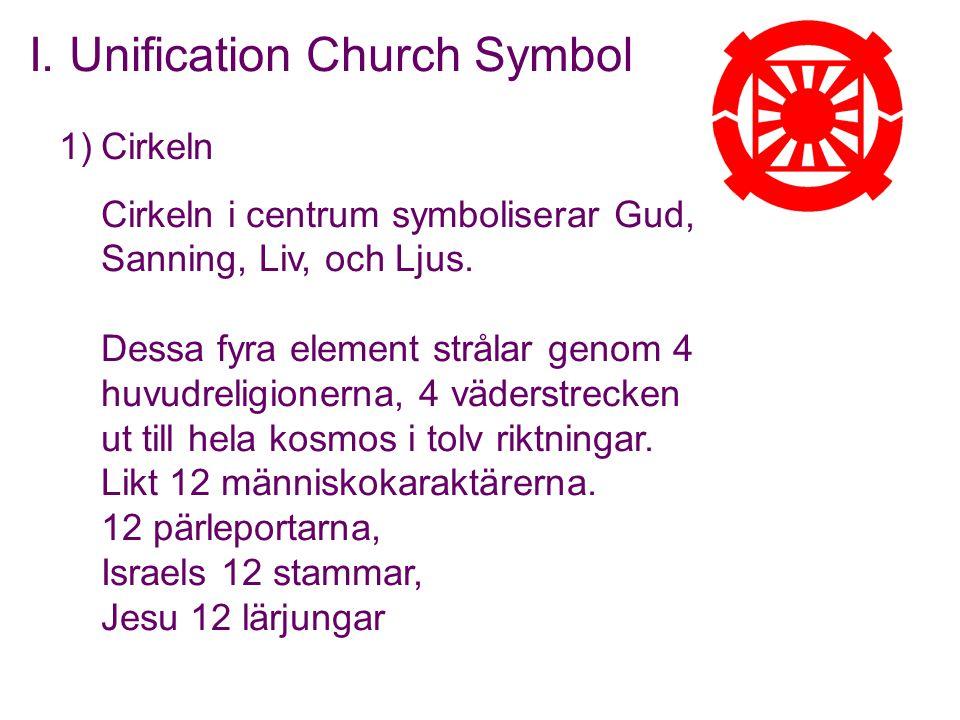 1)Cirkeln Cirkeln i centrum symboliserar Gud, Sanning, Liv, och Ljus. Dessa fyra element strålar genom 4 huvudreligionerna, 4 väderstrecken ut till he
