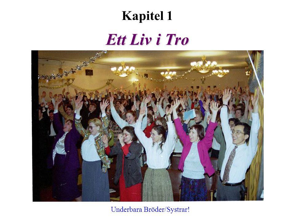 Ett Liv i Tro Kapitel 1 Underbara Bröder/Systrar!