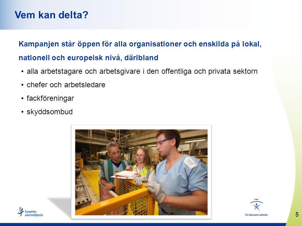 5 www.healthyworkplaces.eu Vem kan delta.