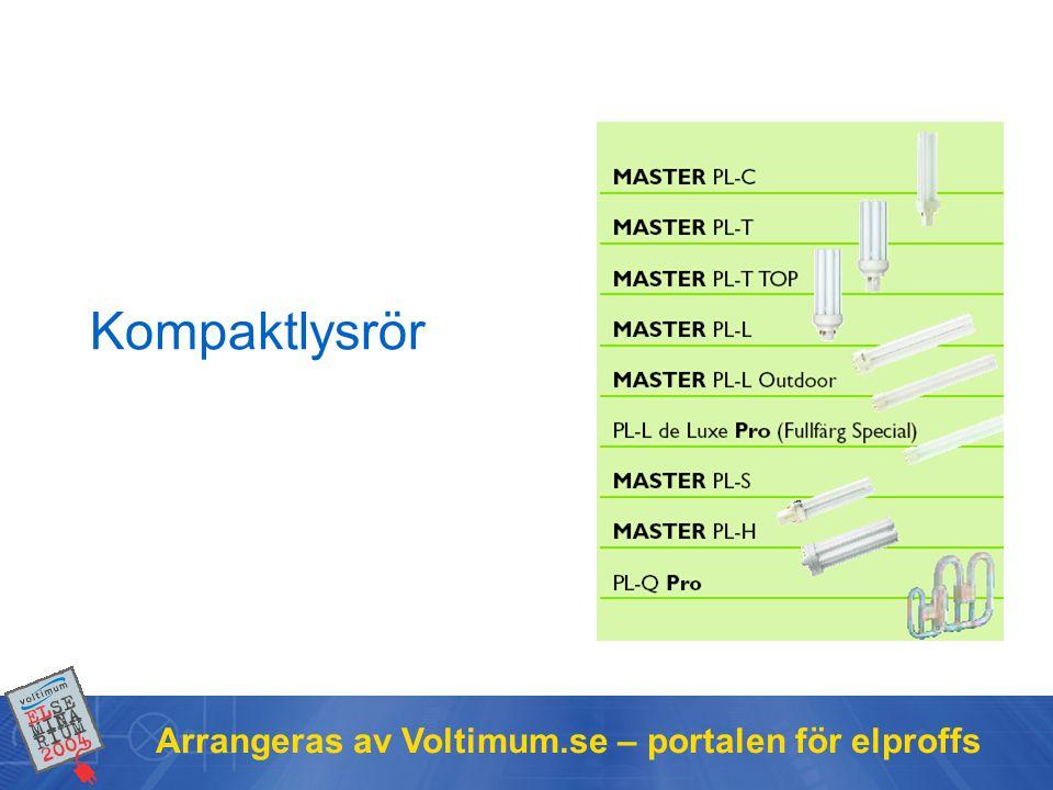 Arrangeras av Voltimum.se – portalen för elproffs Kompaktlysrör