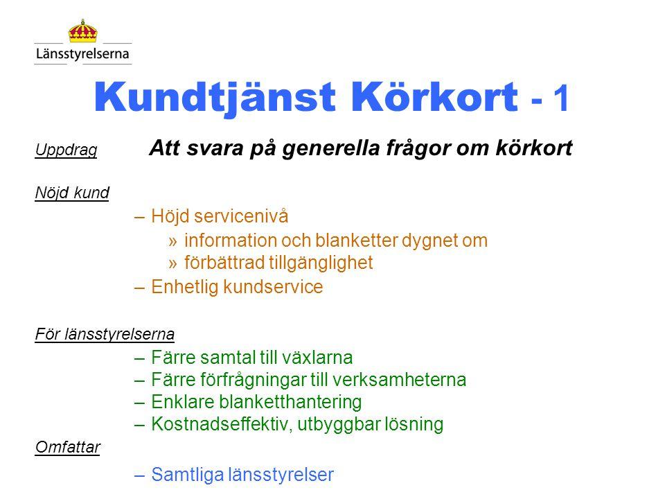 Länsstyrelsens Körkortstjänst Du får nu fyra val: Om Din fråga gäller - körkortstillstånd, tryck 1 - handledarskap, tryck 2 - blanketter, tryck 3 - övriga frågor, tryck 4 eller vänta Val 4 Körkortstjänsten, Lars-Gunnar Hej, jo det är så här, jag har ett körkort från USA, hur länge får jag köra med det i Sverige .