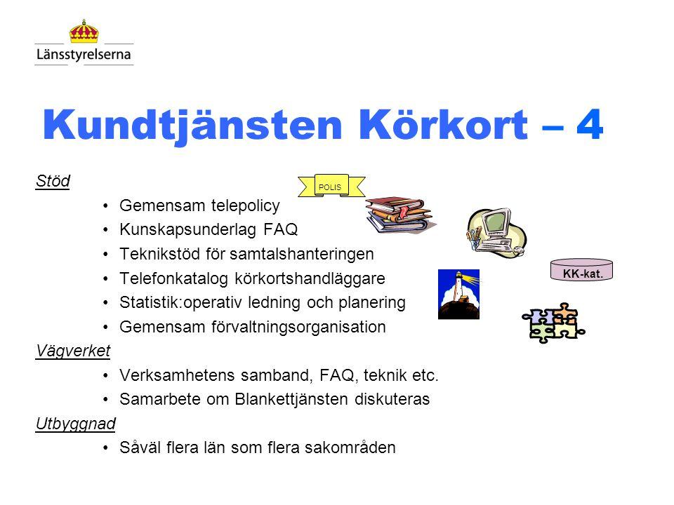 Kundtjänst Körkort - 3 Grundförutsättningar 1.Rikslösning - omfattar alla län 2.