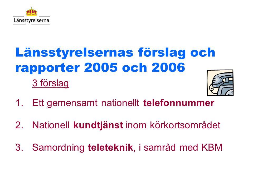 Ledningens direktiv Målet - samordning av länsstyrelsernas telelösningar: 1. Förstärk bilden av Länsstyrelsen Sverige - varumärket 2. Skapa ett gemens
