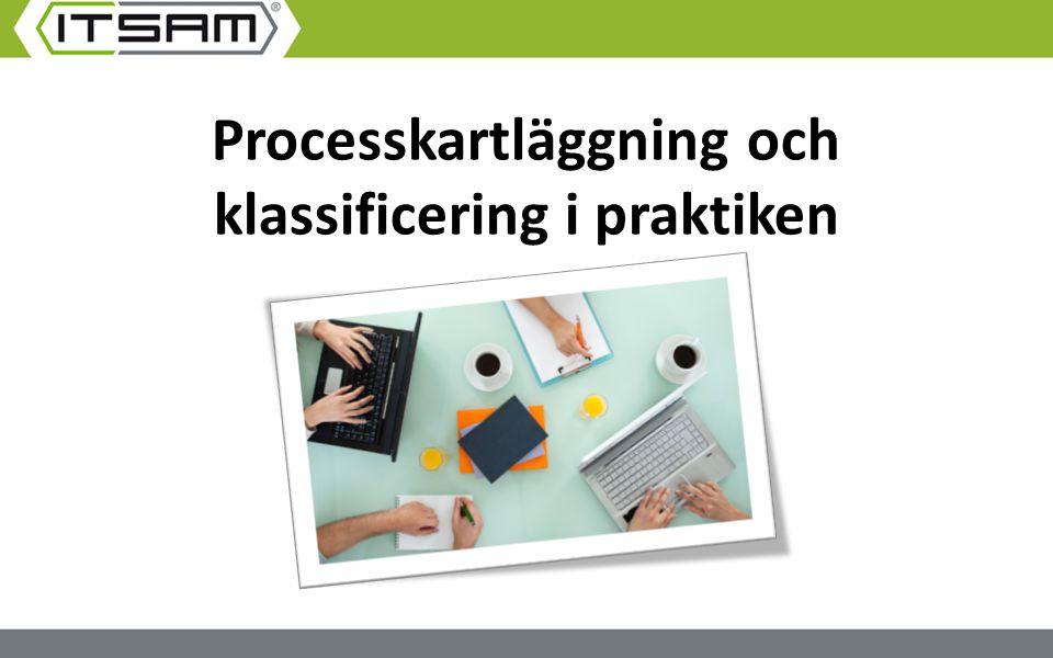 Processkartläggning och klassificering i praktiken