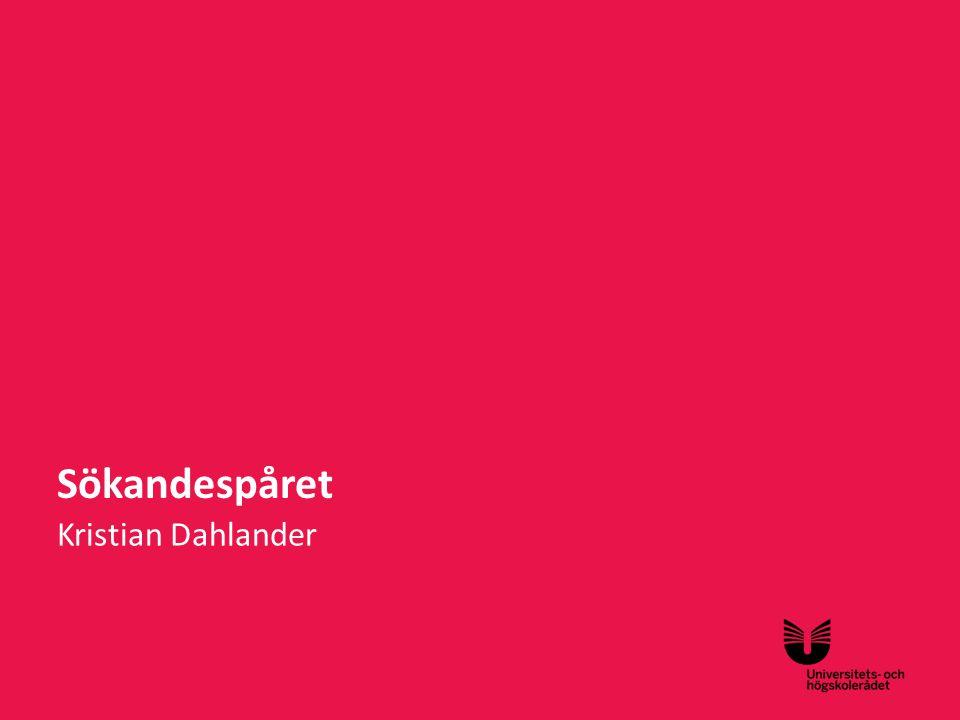 Sv Sökandespåret Kristian Dahlander