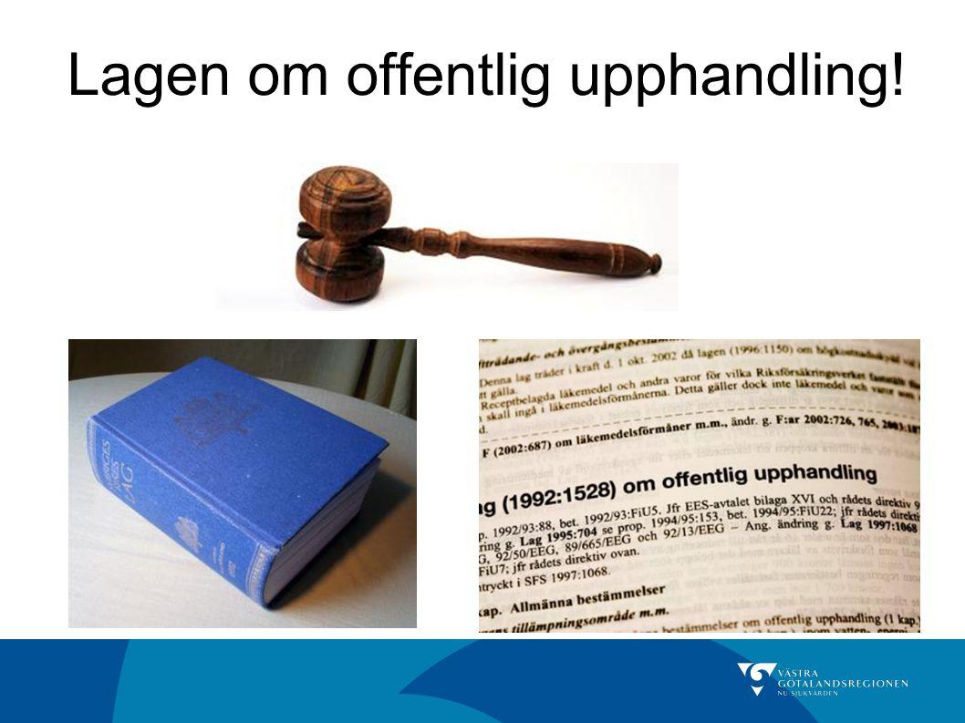 Lagen om offentlig upphandling!