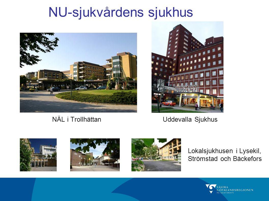 NÄL i TrollhättanUddevalla Sjukhus NU-sjukvårdens sjukhus Lokalsjukhusen i Lysekil, Strömstad och Bäckefors