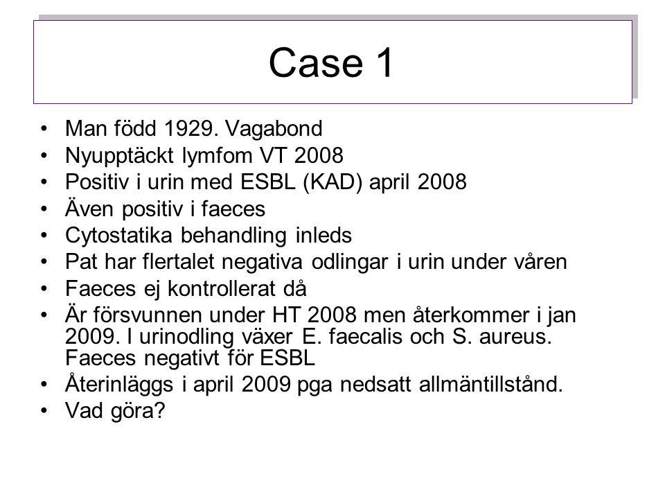Case 1 Vad göra om urin och faeces är negativa?