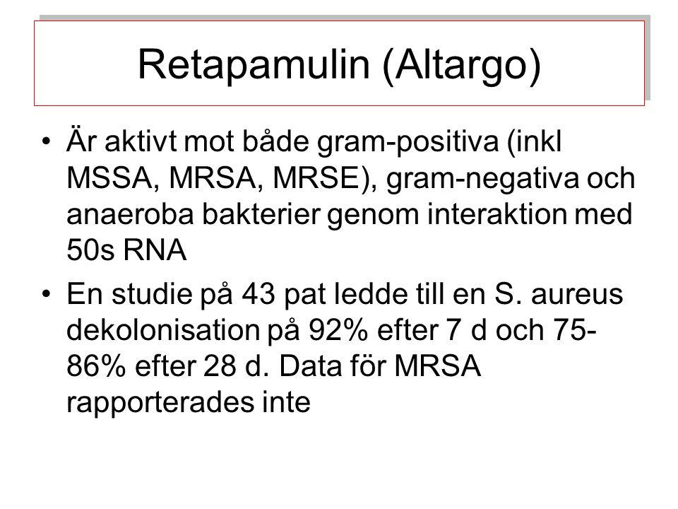 En observations studie visade att tillägg av 0.3% triclosan i tvål gjorde att ett MRSA utbrott på en neaonatal avd kunde hejdas.