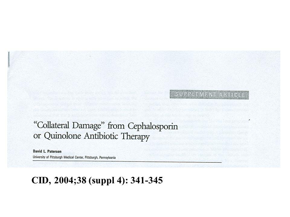 Collateral damage Kinoloner –MRSA –VRE –ESBL –C.difficile Cefalosporiner –ESBL –Enterokockinf.