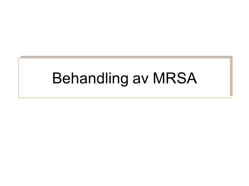 Behandling av MRSA