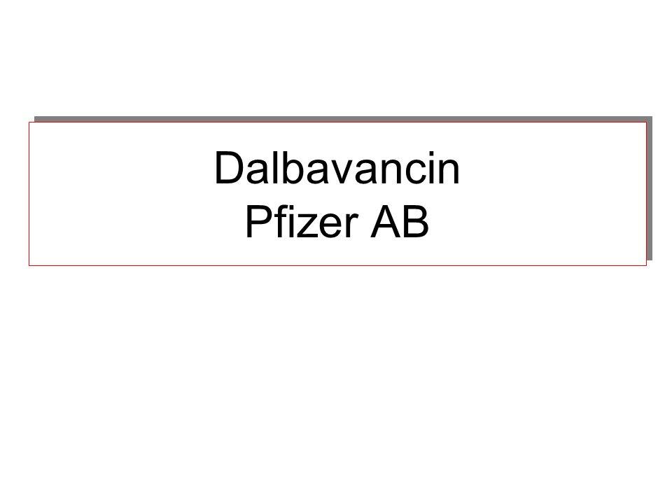 Dalbavancin Pfizer AB