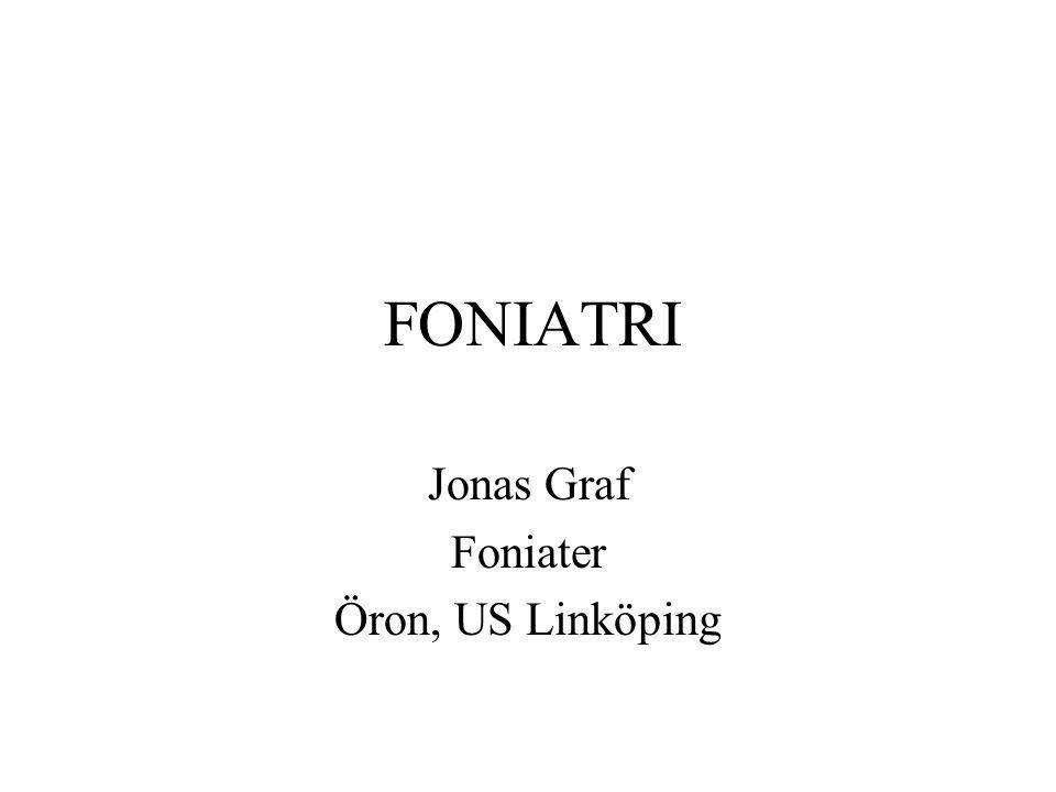 FONIATRI Jonas Graf Foniater Öron, US Linköping