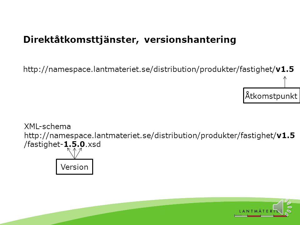 I drift sedan januari 2013 Januari 2014, nya versioner av – Samfällighetsförening (1.1.0) – Markreglering (1.3.1) – Rättighet (1.3.0) Februari 2014, n