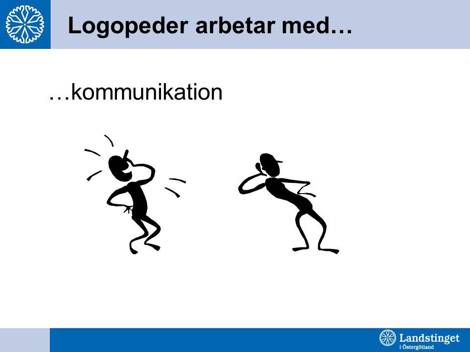 Logopeder arbetar med… …kommunikation