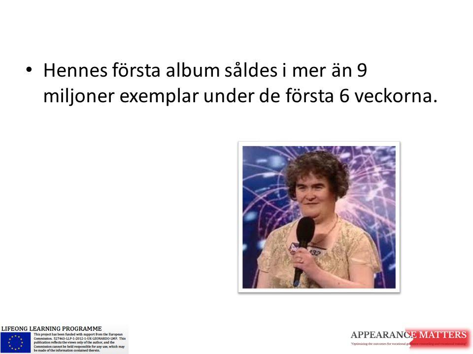 Hennes första album såldes i mer än 9 miljoner exemplar under de första 6 veckorna.