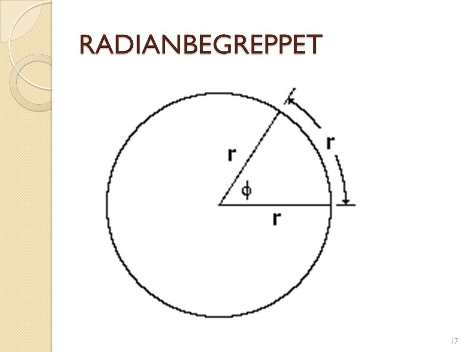 RADIANBEGREPPET 17