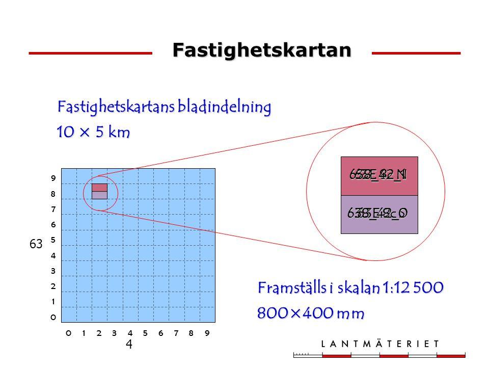 Fastighetskartans bladindelning 10 × 5 km Framställs i skalan 1:12 500 800×400 mm 63 4 0123456789 0 1 2 3 4 5 6 7 8 9 63E 8c N 63E 8c S 638_42_1638_42