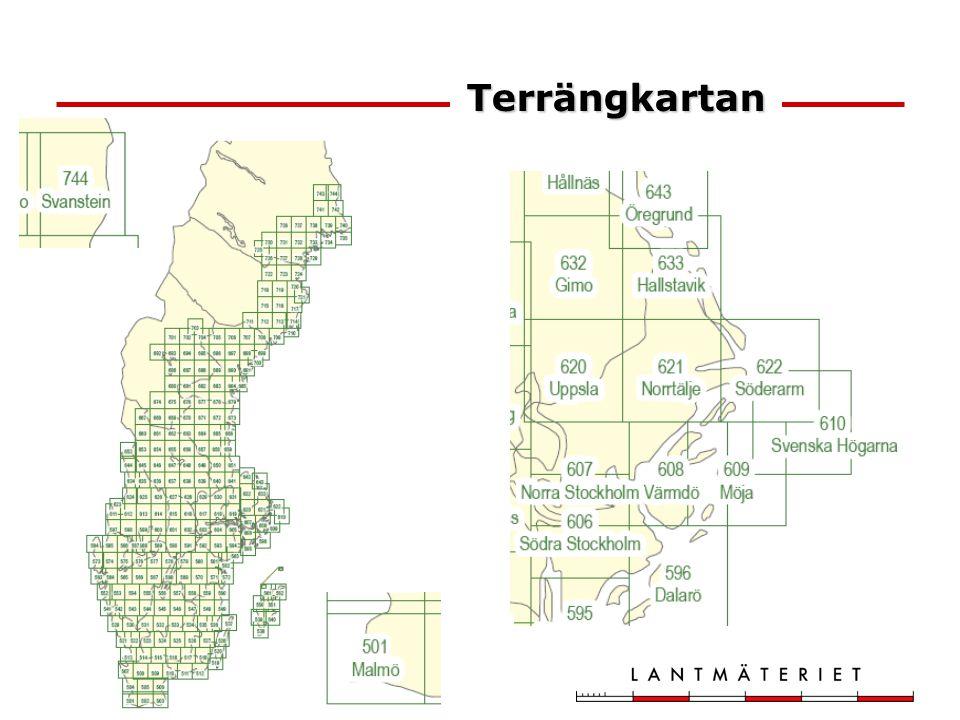 244 blad Terrängkartan