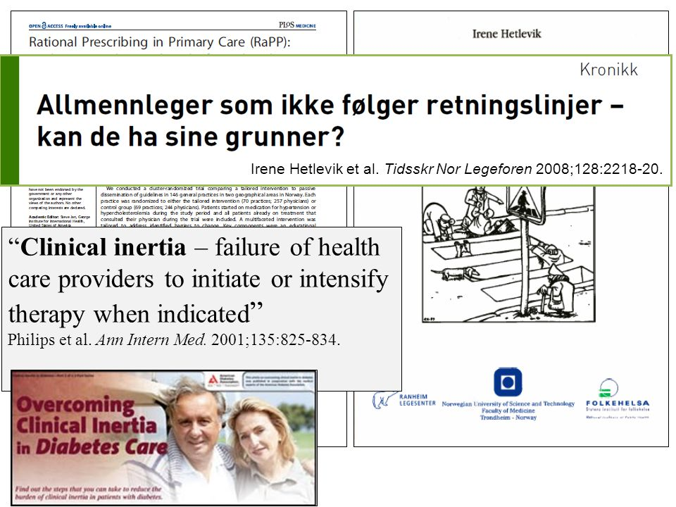 Irene Hetlevik, Scand J Prim Health Care 2004 A balanced theoretical and scientific fundament