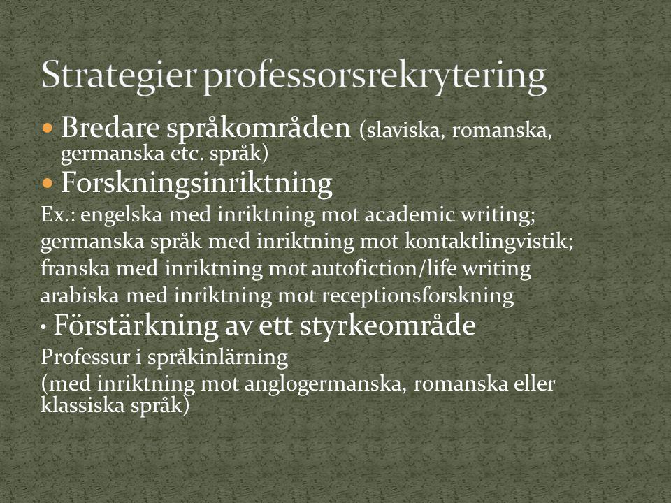 Bredare språkområden (slaviska, romanska, germanska etc.