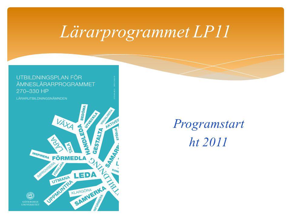 Lärarprogrammet LP11 Programstart ht 2011