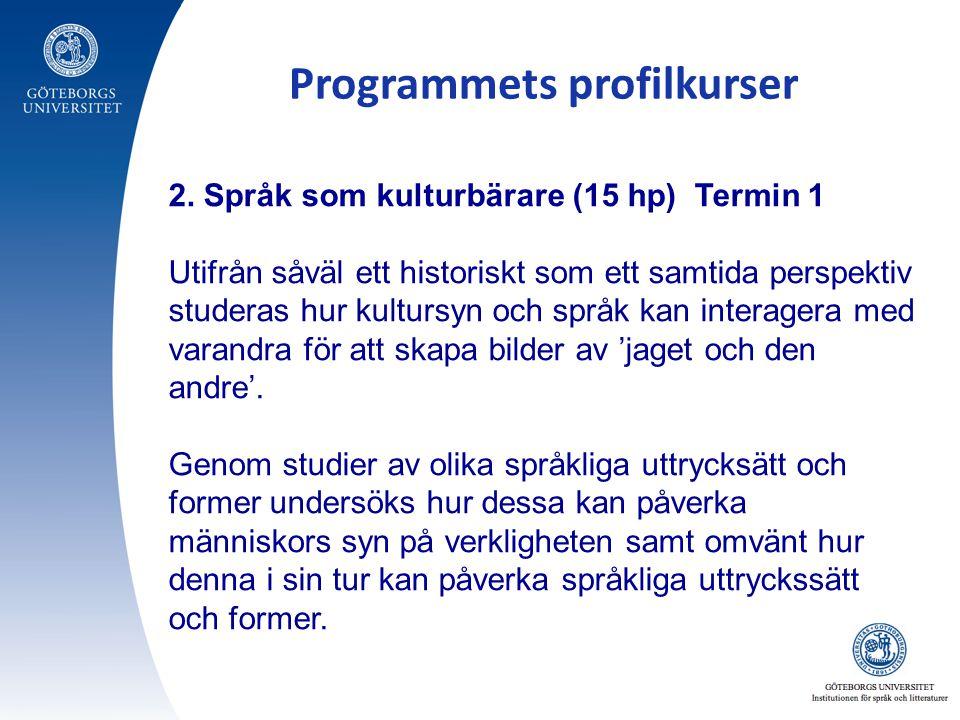 Programmets profilkurser 2.