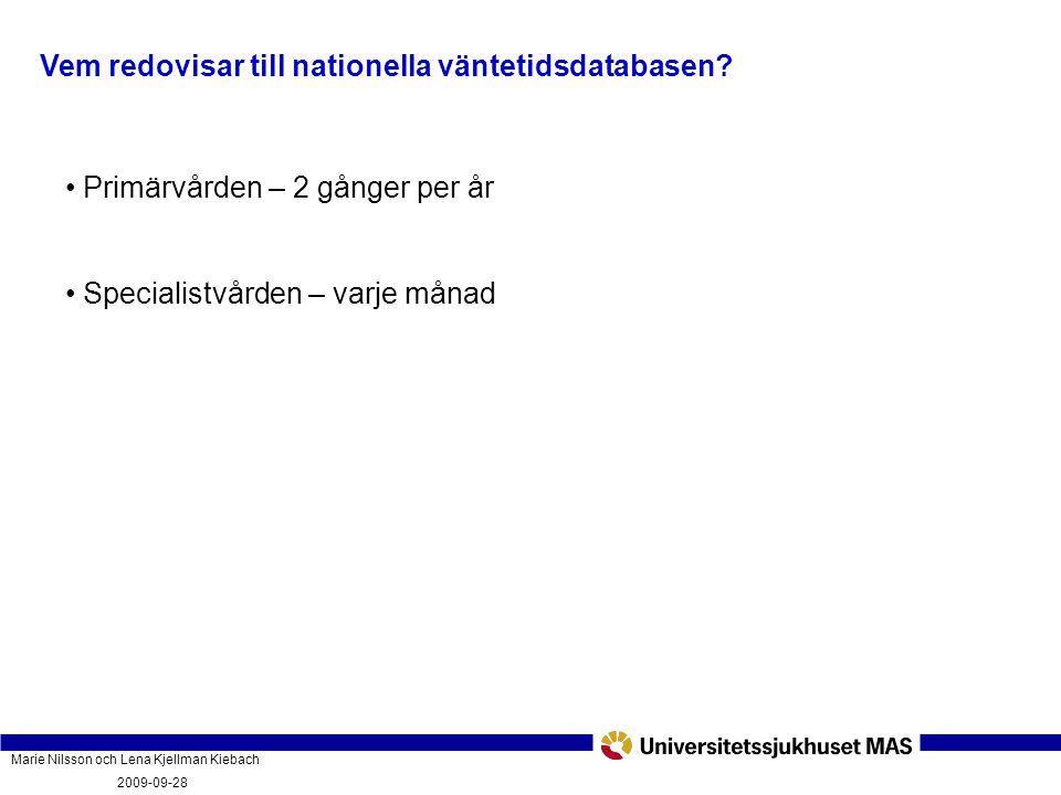 Marie Nilsson och Lena Kjellman Kiebach 2009-09-28 Vad innebär vårdgarantin och hur fungerar den? PatientForum Malmö 2009-09-28 Vem redovisar till nat