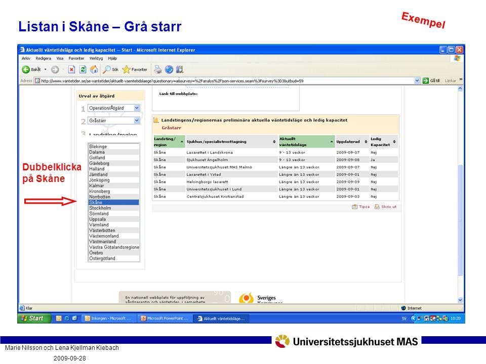 Marie Nilsson och Lena Kjellman Kiebach 2009-09-28 Vad innebär vårdgarantin och hur fungerar den? PatientForum Malmö 2009-09-28 Listan i Skåne – Grå s