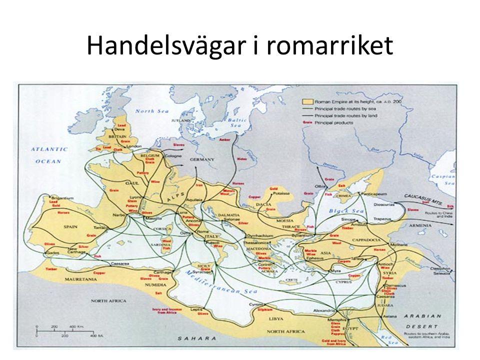 Handelsvägar i romarriket