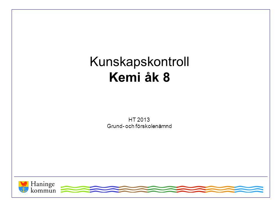 Information Kunskapskontrollen i Kemi infördes 2010 och har nu genomförts fem gånger.