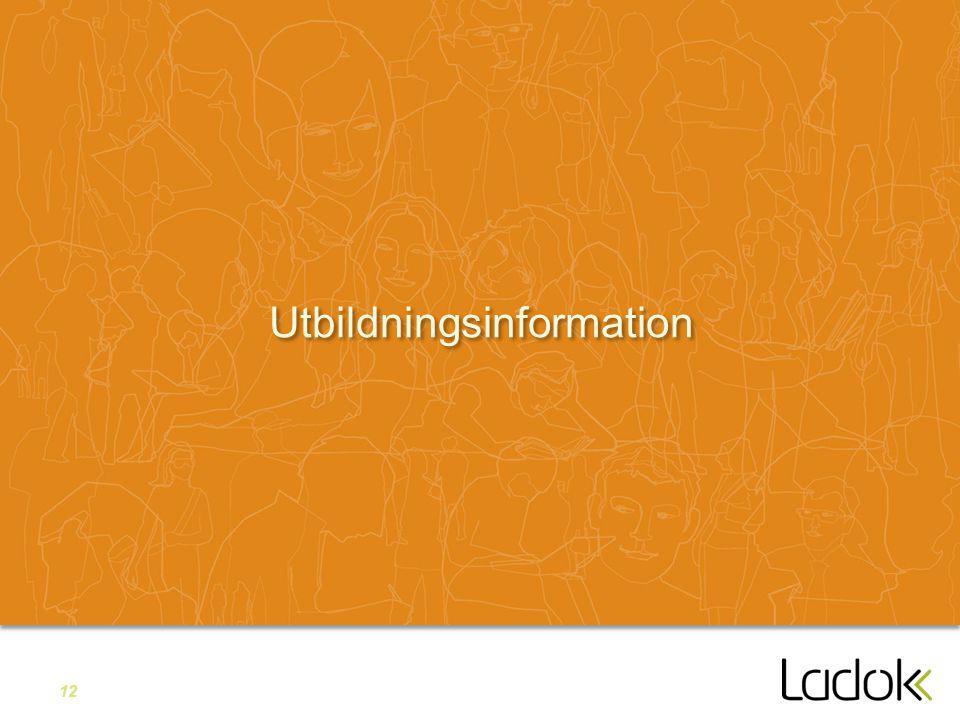 12 Utbildningsinformation