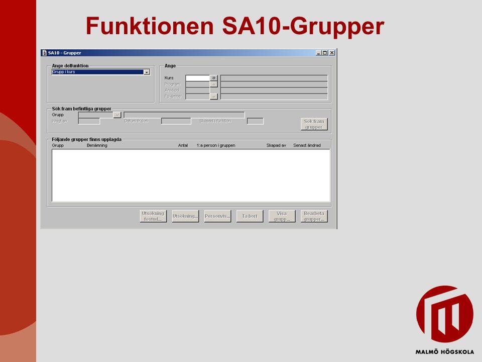 Funktionen SA10-Grupper