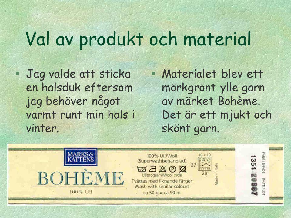 MIN HALSDUK Garnteknologi 1 Camilla Byggmästar 25318
