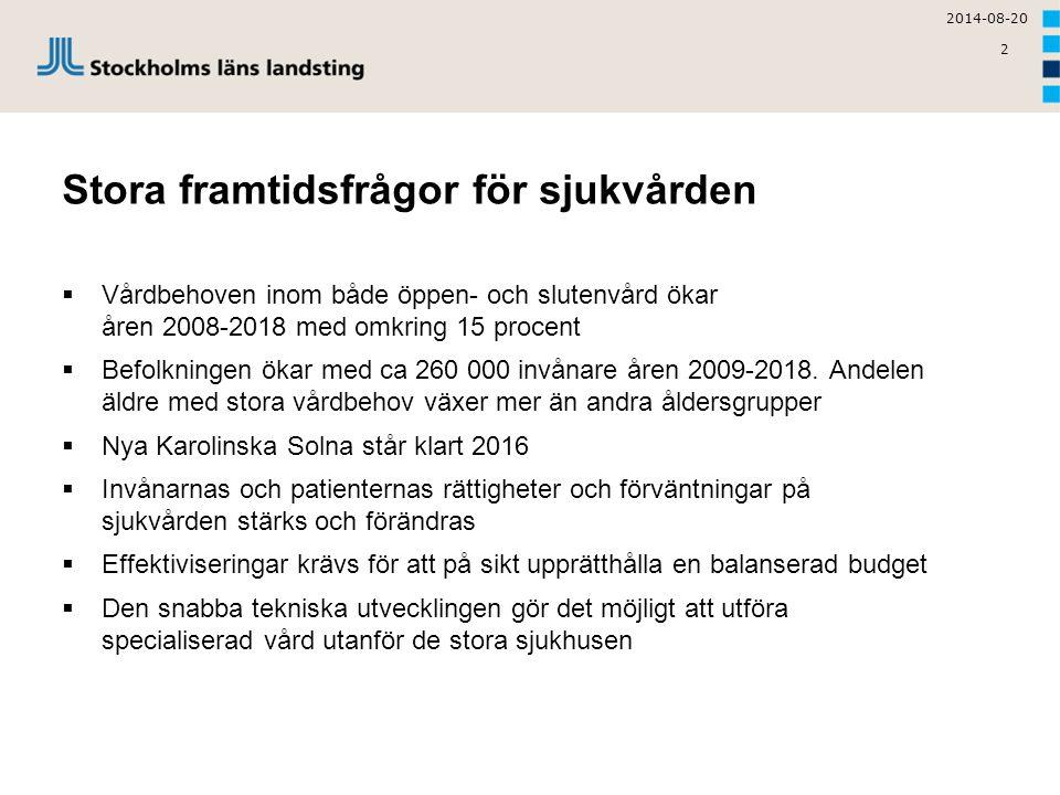 3 Vårdbehoven ökar 2014-08-20