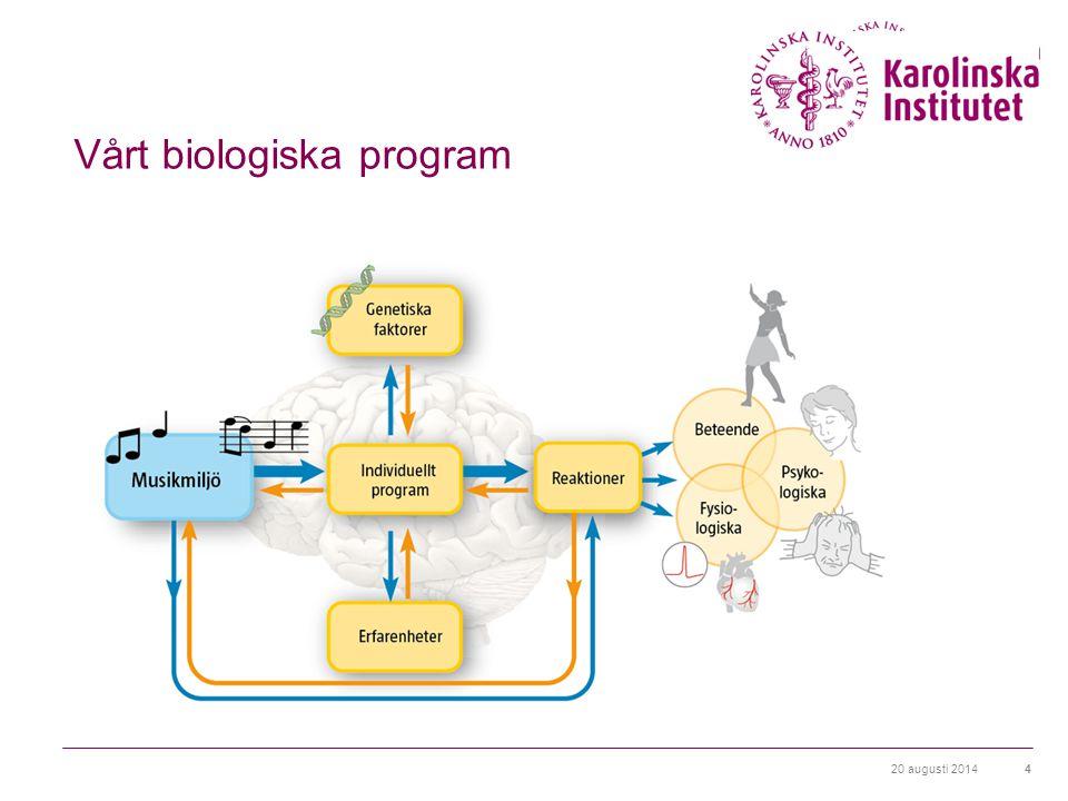 20 augusti 20144 Vårt biologiska program