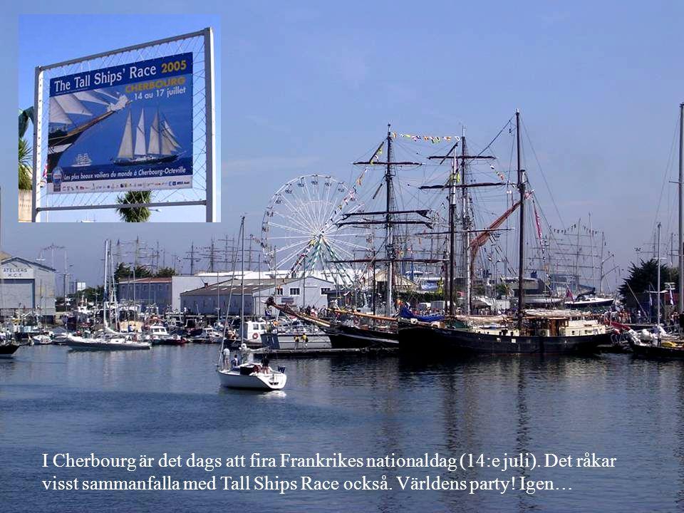 I Cherbourg är det dags att fira Frankrikes nationaldag (14:e juli).