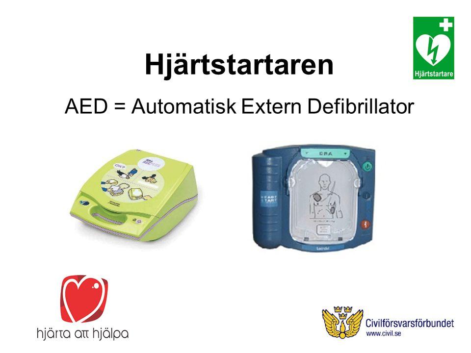Hjärtstartaren AED = Automatisk Extern Defibrillator