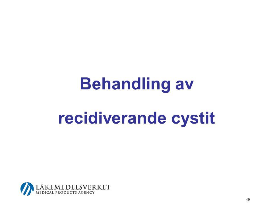 49 Behandling av recidiverande cystit
