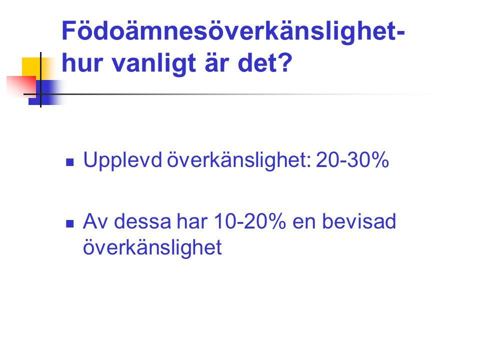 Hasselnötsallergi kan bero på sensibilisering mot Bet v 1 eller LTP Olika klinisk bild Skandinavien:  Hasselnötsallergiker i norra- och central europa sensibiliserade mot Cor a 1 som kors- reagerar med björkpollenallergen Bet v 1.